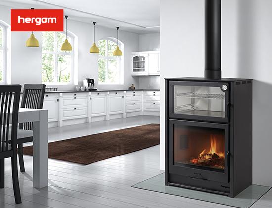 ARCE系列独立式带烤箱燃木壁炉