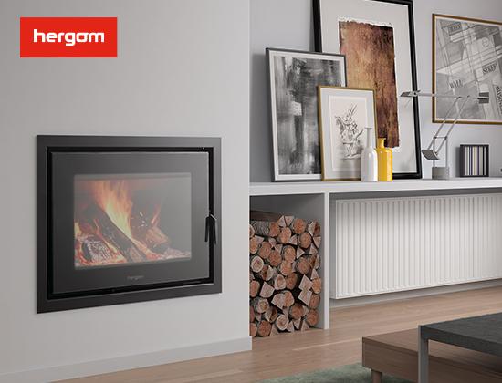 DERO 带水暖嵌入式燃木壁炉(客厅壁炉)