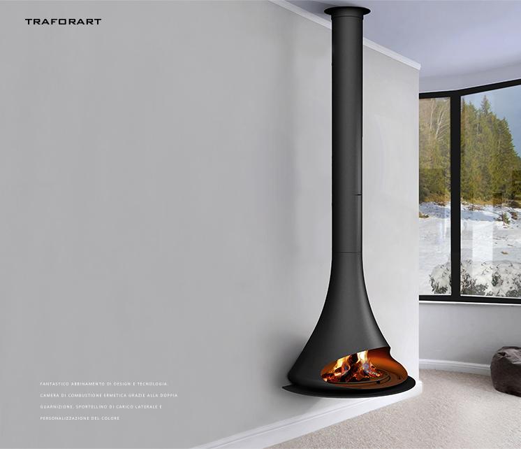 客厅安装壁炉