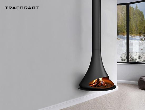 doria-贴墙款悬挂壁炉(样板间壁炉)