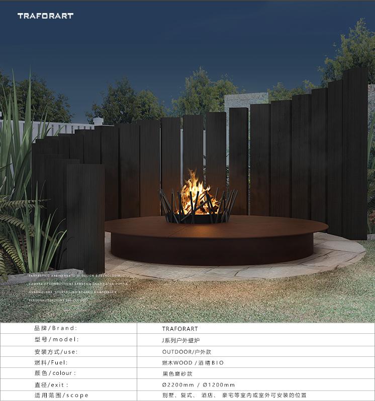 燃木真火壁炉