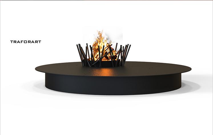 户外燃木壁炉