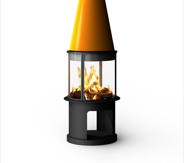 进口燃木壁炉