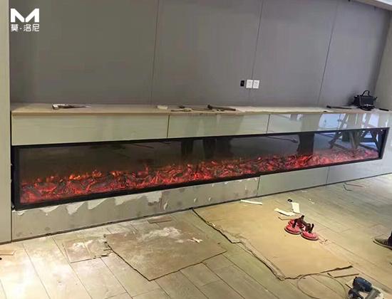 【江西南昌】饶总采购我司两套大尺寸电壁炉