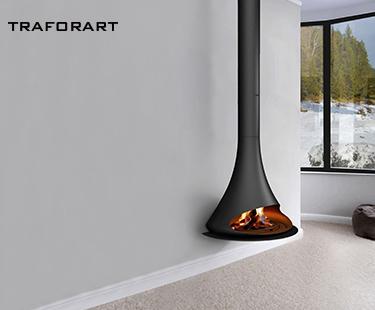Traforart 品牌 Doria款燃木壁炉