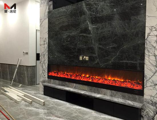 【浙江杭州】西溪海项顾总采购我司两套电壁炉