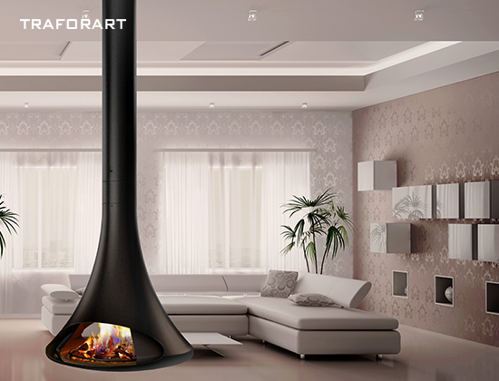 DORIA悬挂式 双面观火奢华壁炉