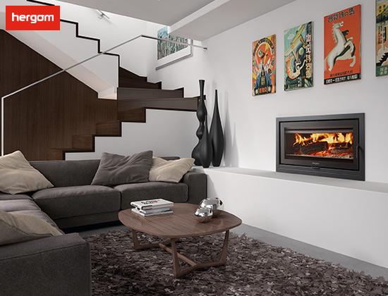 SERE系列嵌入式燃木壁炉