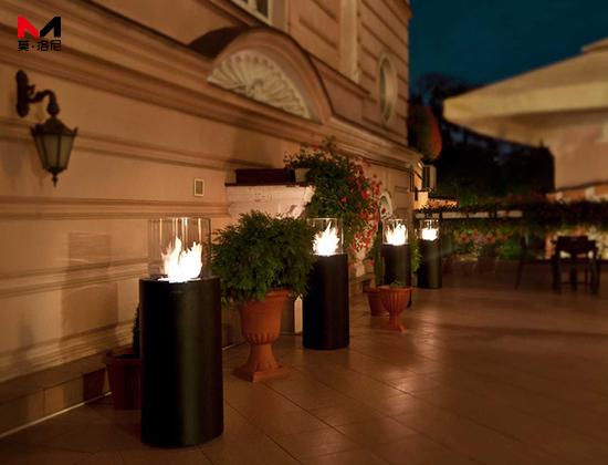 【四川成都】FOOOO 餐厅安装我司景观壁炉图腾黑四套