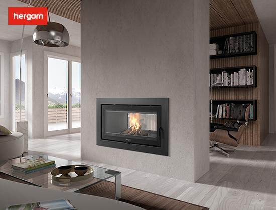 【西藏拉萨】福江家园小区采购我司SERE 100 2C 双面 燃木壁炉