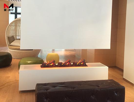 【上海卢湾区】日月光呷哺呷哺旗舰店安装我司80长3D雾化电壁炉