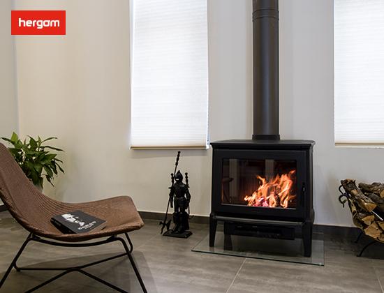 【山西代县】小观村安装我司两套纯进口E30-L 燃木壁炉