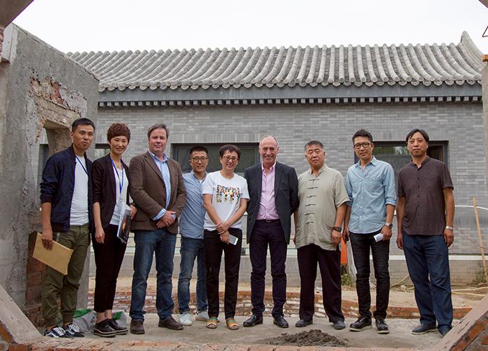 hergom燃木壁炉全球市场总监亲临北京易郡项目指导