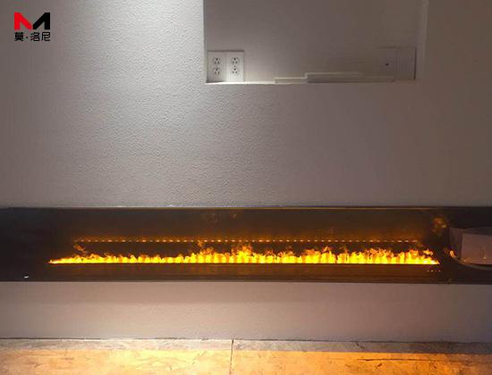 【上海市浦东区】连总采购我司3D-1800 鹅卵石3D雾化壁炉一台
