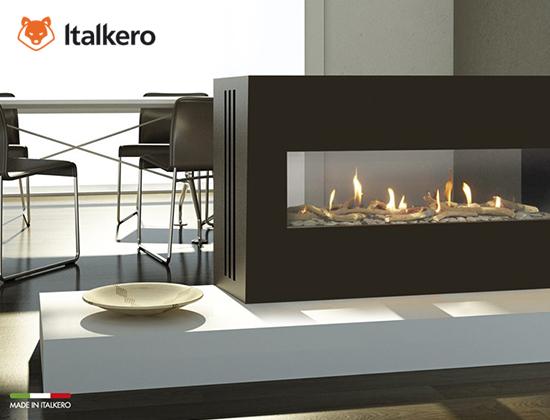 milano 80-130型燃氣壁爐