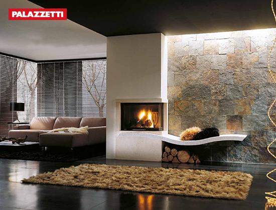 意大利PALAZZETTI奢华燃木壁炉品牌(SUNNYFIRE系列 DX正+侧面观火)