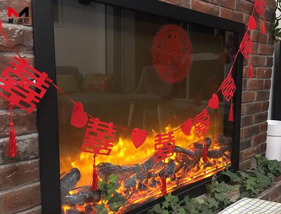 【陕西省西安市】中华世纪城冯小姐采购我司定制电壁炉一台