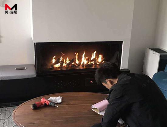 【北京市延庆区】原乡美利坚倪总采购我司室内燃气壁炉一台