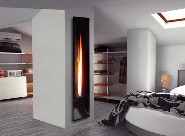 超赞客厅家具摆放攻略,门口的壁炉很吸睛