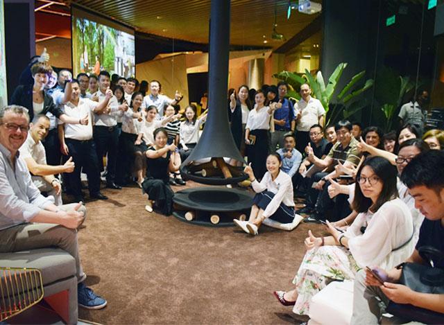 西班牙TRAFORART公司执行总裁Anna女士访问莫洛尼壁炉杭州分公司体验馆开展技术交流研讨