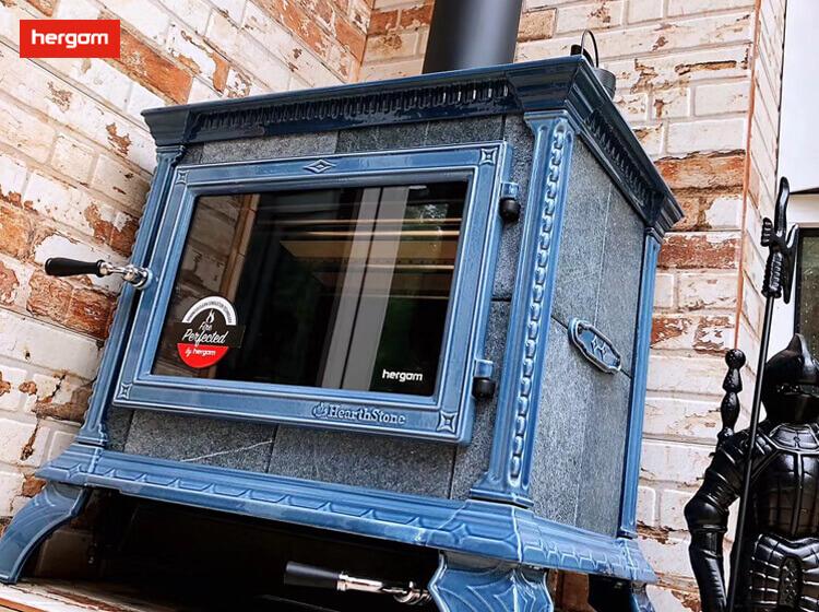 【上海市】姜先生采购我司HERITAGE蓝色彩陶独立式燃木壁炉一台