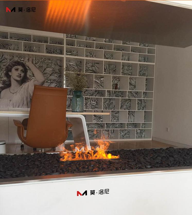3D霧化壁爐 鵝卵石