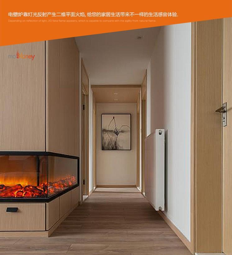 单面双面三面四面弧形异形壁炉芯定制(酒店壁炉)