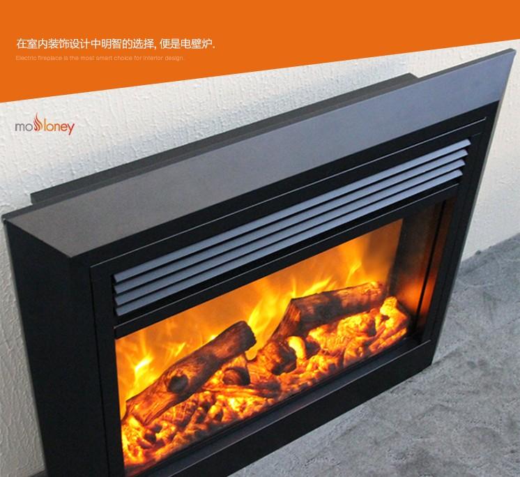 YN-Q02大面板斜邊電壁爐芯(客廳壁爐)