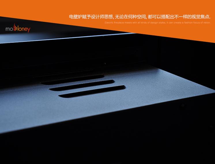 YN-Q02平邊嵌入式電壁爐芯(樣板間壁爐)