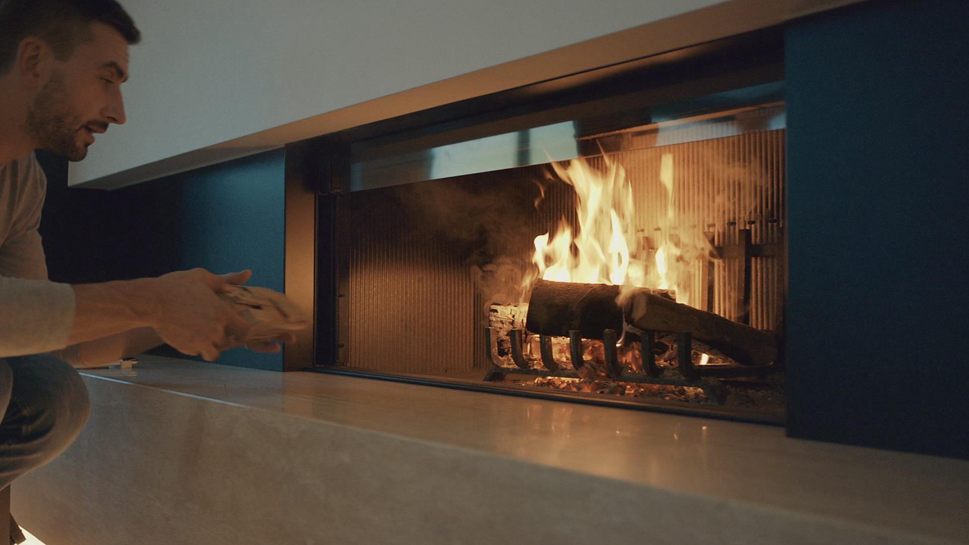 PALAZZETTI品牌燃木壁炉带体验现代时尚家居生活