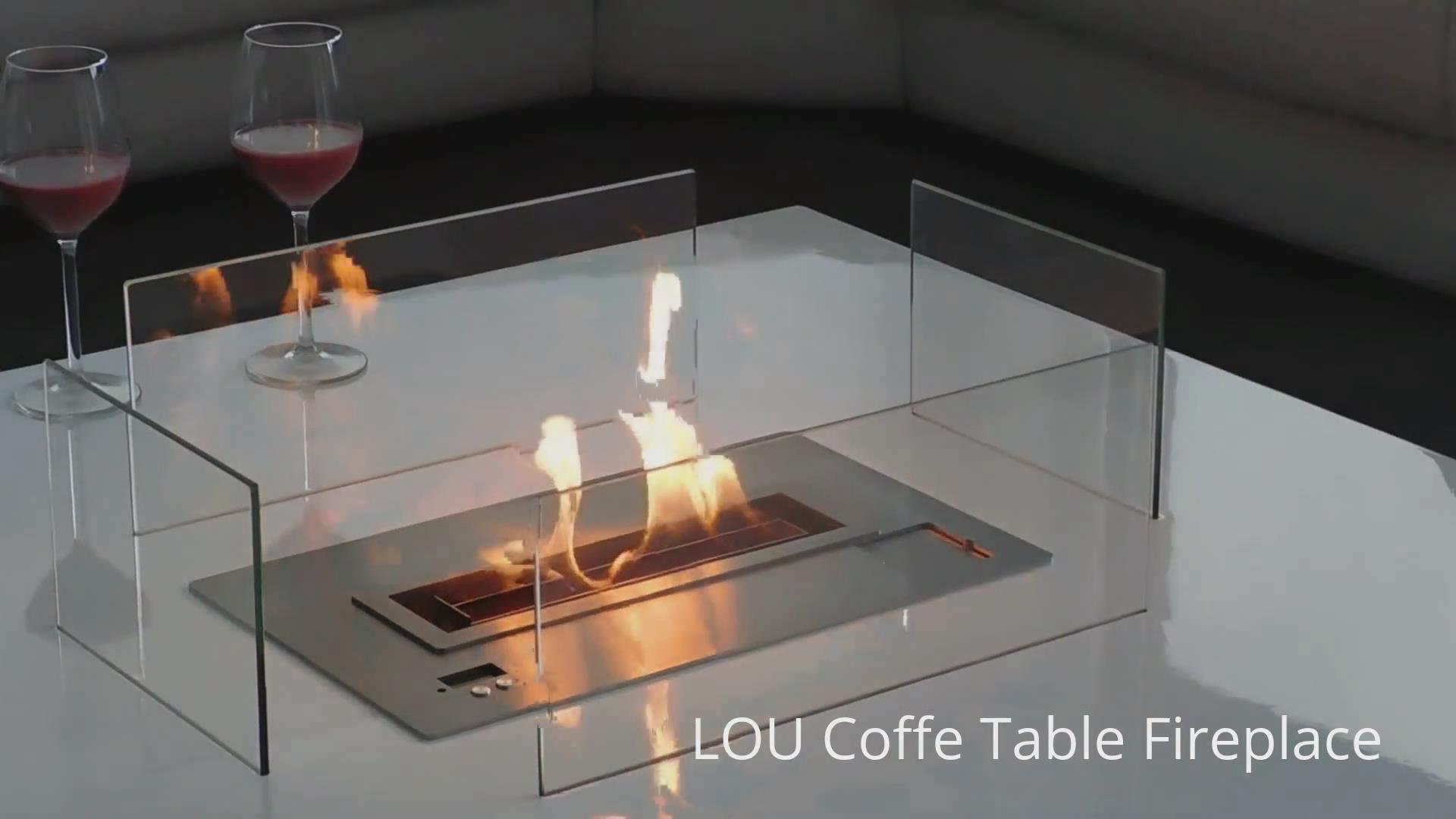 英国A-fire品牌LOU系列智能酒精真火壁炉