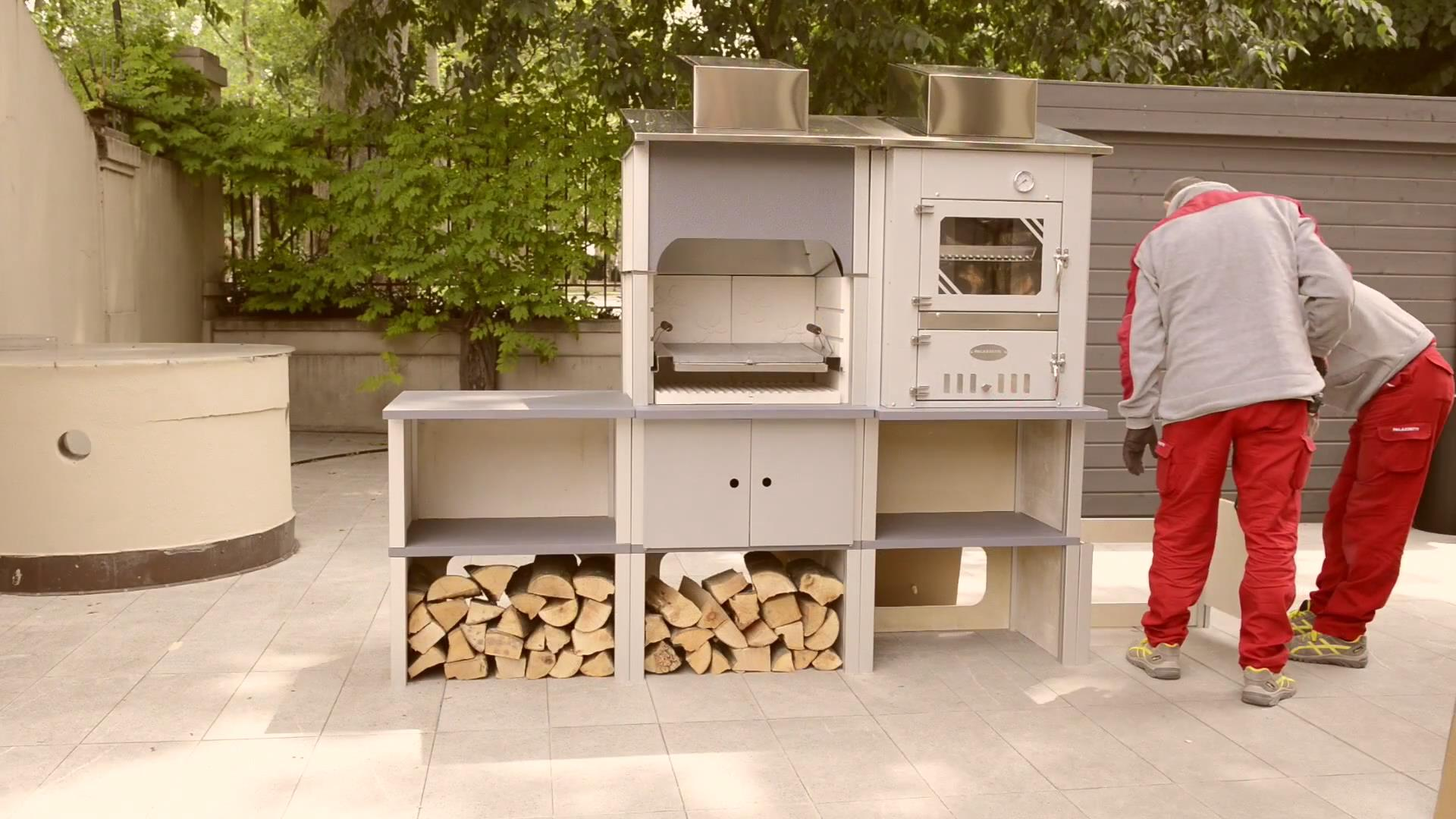 PALAZZETTI品牌燃木壁炉简易安装视频