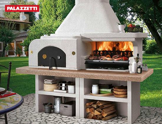 GARGANO 3 户外燃木壁炉