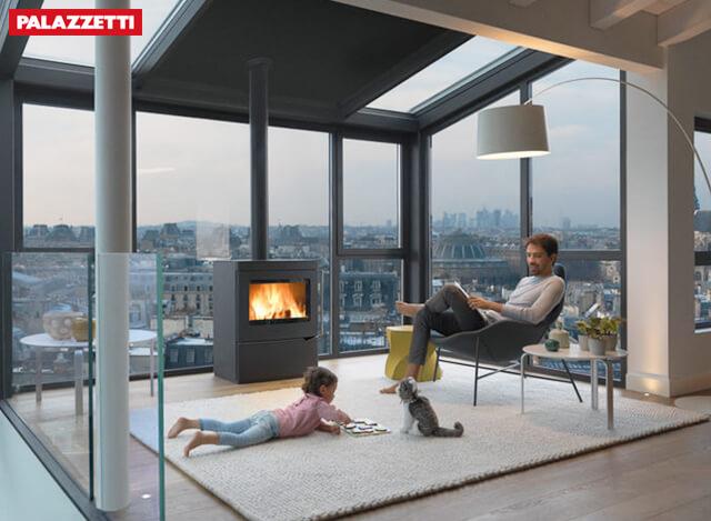 真火壁炉该如何同电视这一设计元素相结合?