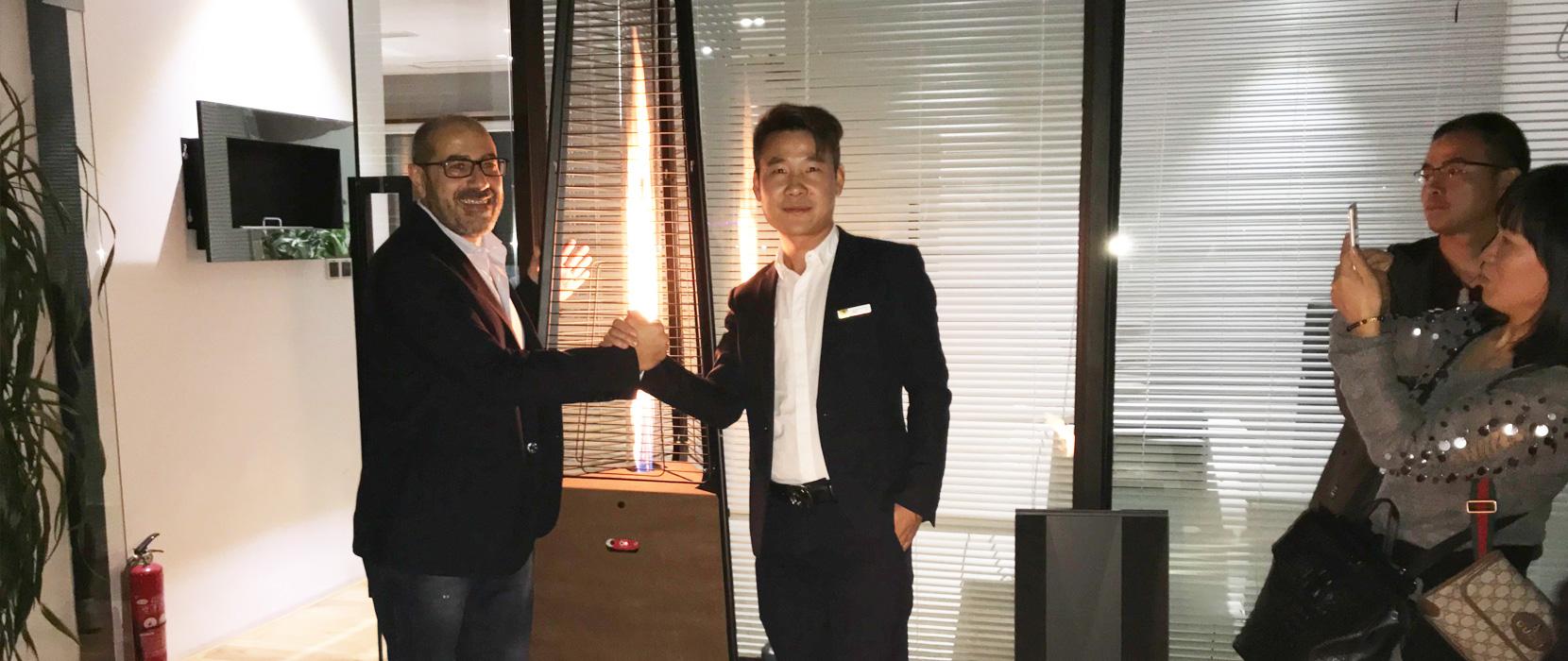 Italkero全球市场总监Sergio到访莫洛尼上海旗舰店开展技术交流研讨