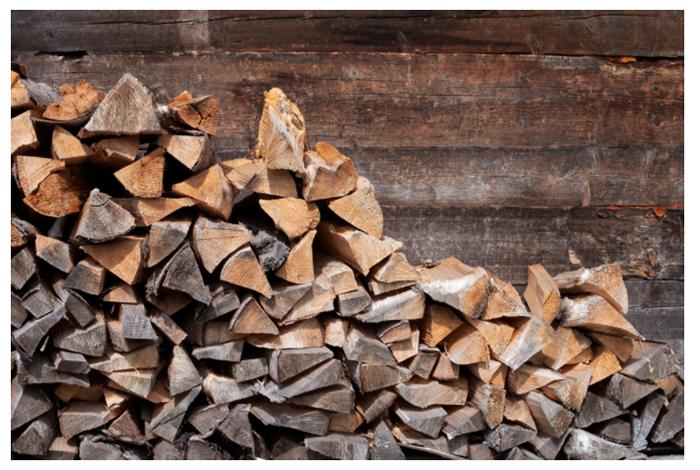 真火燃木壁炉木材材料照片