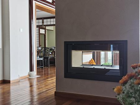 铸铁燃木壁炉