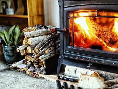 燃木壁炉燃烧效果