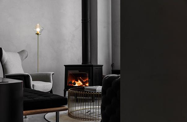 室内燃木壁炉