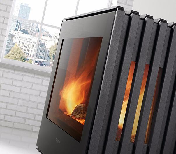 燃木壁炉玻璃门