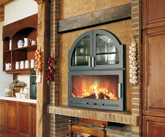 烤箱式燃木壁炉