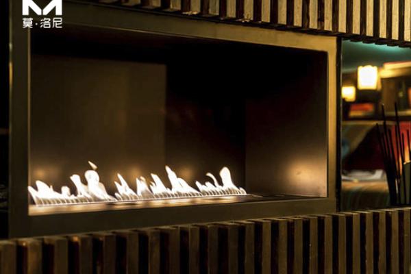 【烟台】银和怡海山庄安装我司1米2智能酒精壁炉升级版