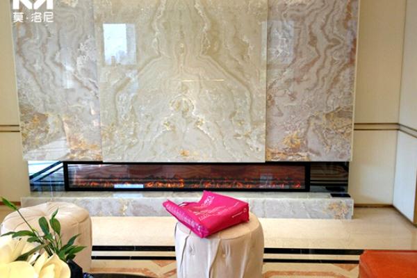 【南京】江宁区龙湖售楼处项目购买我司4米长定制壁炉芯