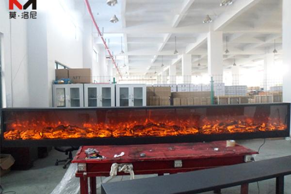 【长春市】盛世房地产开发公司购买我司4米7电壁炉芯