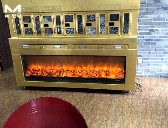 【上海壁炉】志铭实业烤鱼炉与我司签订长期电壁炉大宗供货合同