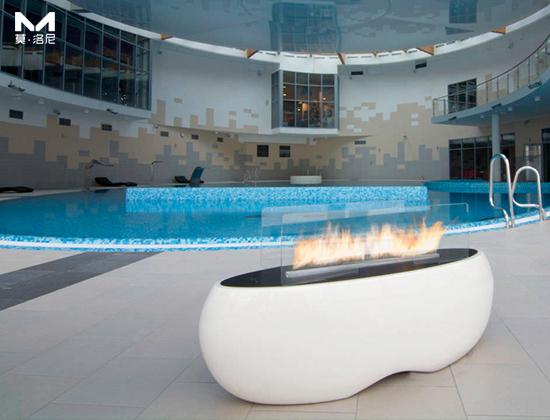 【北京】当代MOMA采购我司禅意花园景观壁炉一台