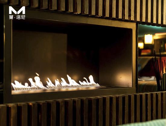 【山东】银和怡海山庄安装1米2智能酒精壁炉