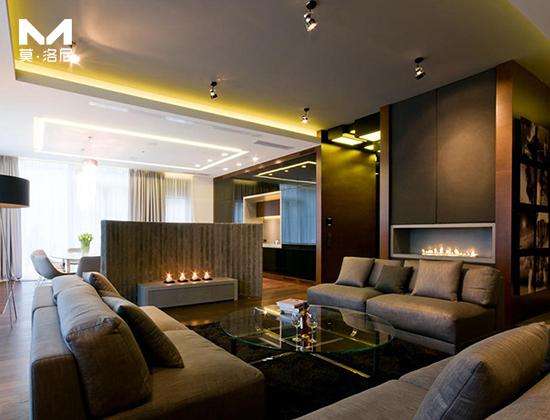 【北京】DT北京設計事務所為 藍岸麗舍安裝1米5長智能酒精壁爐