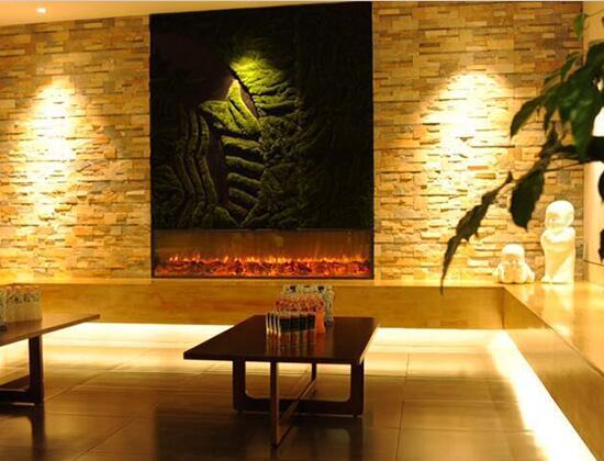 【江苏溧阳】鱼匠主题餐厅安装我司4四米电壁炉芯