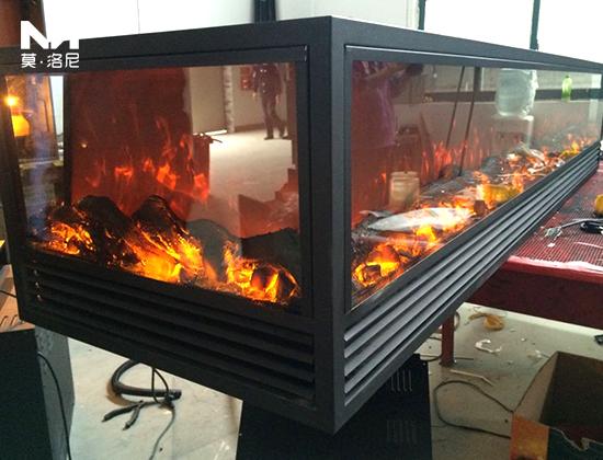【北京】嘉里中心安装我司四面观火壁炉